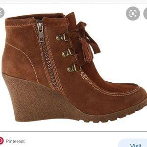 MIA   Brisk Wedge Ankle Tassel Boot 7